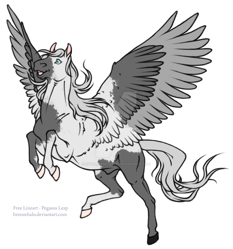 Gray Tobiano Pegasus - OPEN Adopt by IntelligentWolf