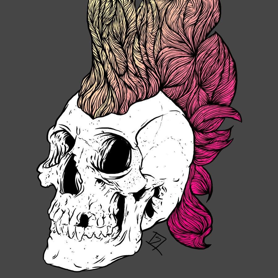 mohawk skull v.2 by SiNN069 on DeviantArt