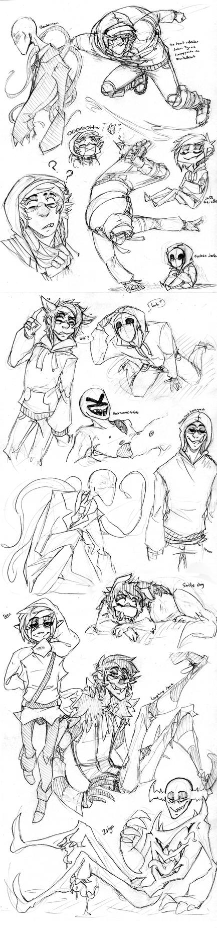 Creepypasta doodles by BlasticHeart