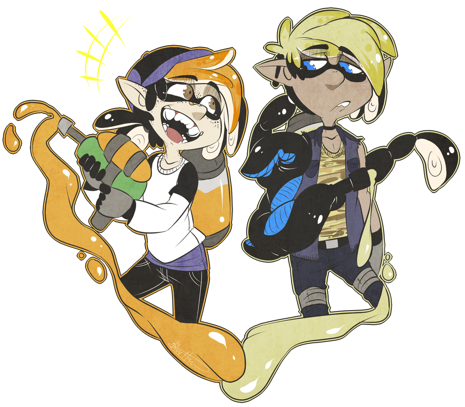 Splatoon - Anthony and Hunter by BlasticHeart