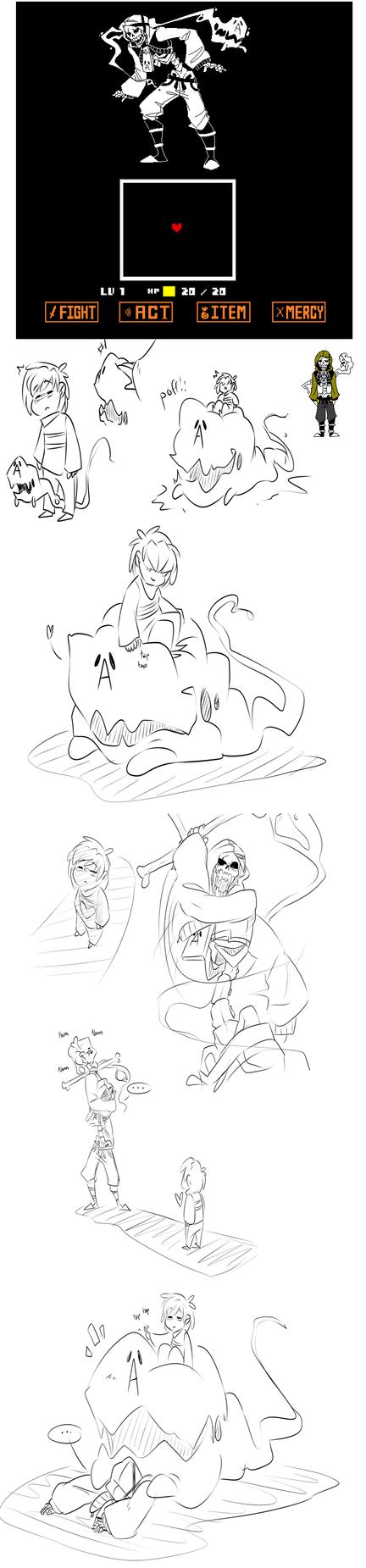Random Undertale oc drawings by BlasticHeart