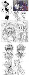 Drawings-batim-OFF-FANF-OCs by BlasticHeart