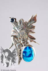Chased Faerie Brooch 1