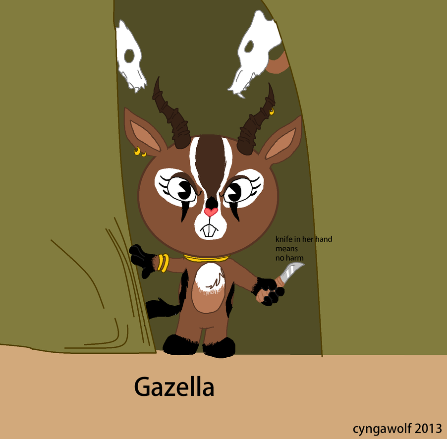 Gazella New HTF OC by cyngawolf