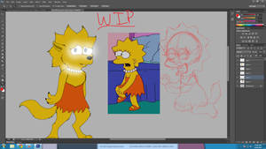 WIP werewolf Lisa (after being infected by meg)