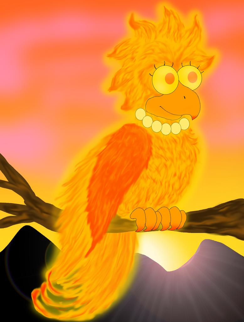 Phoenix Lisa (Simpsons) by cyngawolf