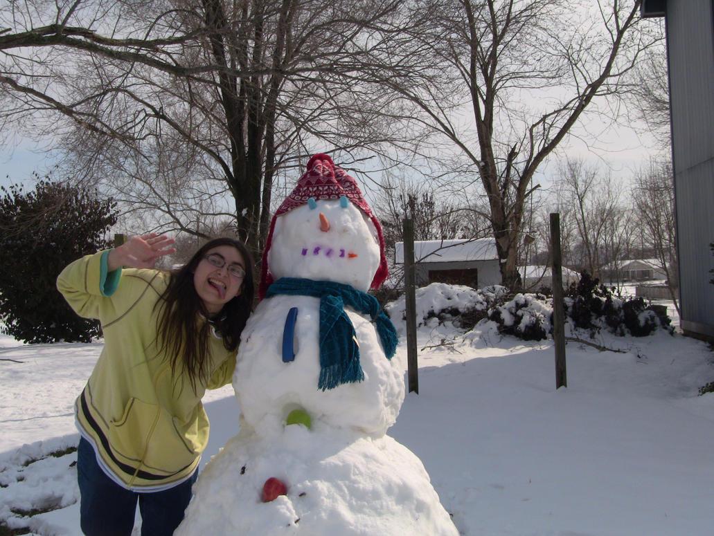 Snowman by cyngawolf