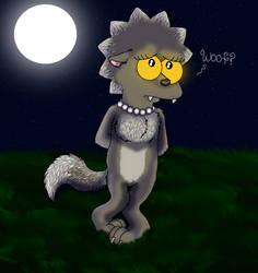 Lisa Simpson-Woof by cyngawolf