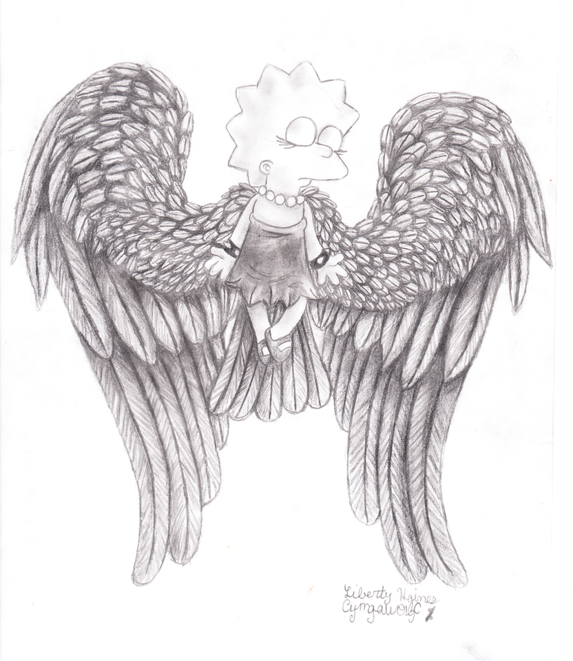 Lisa Simpson Angel by cyngawolf
