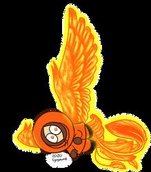 Cute lil phoenix by cyngawolf