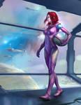 Astronaut_purple spacesuit