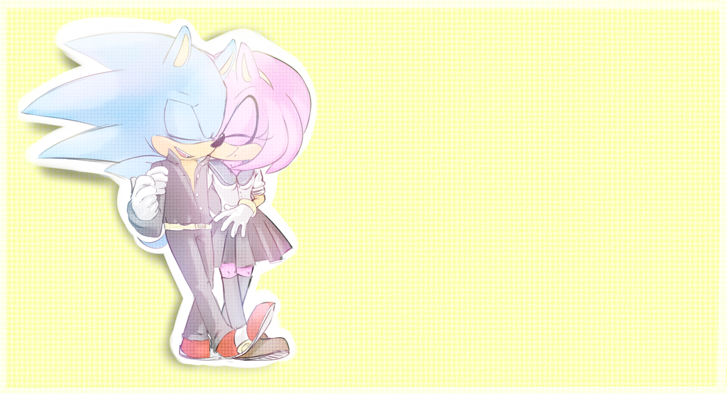 Never leave me. -Sonamy- by Proasha