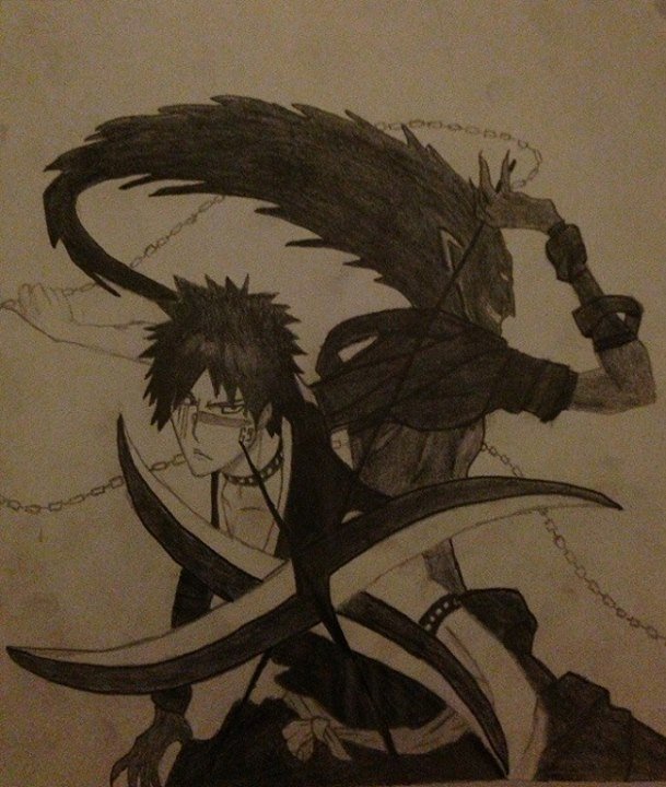 Hisagi Shuuhei and Kazeshini by Akuma-no-ookami