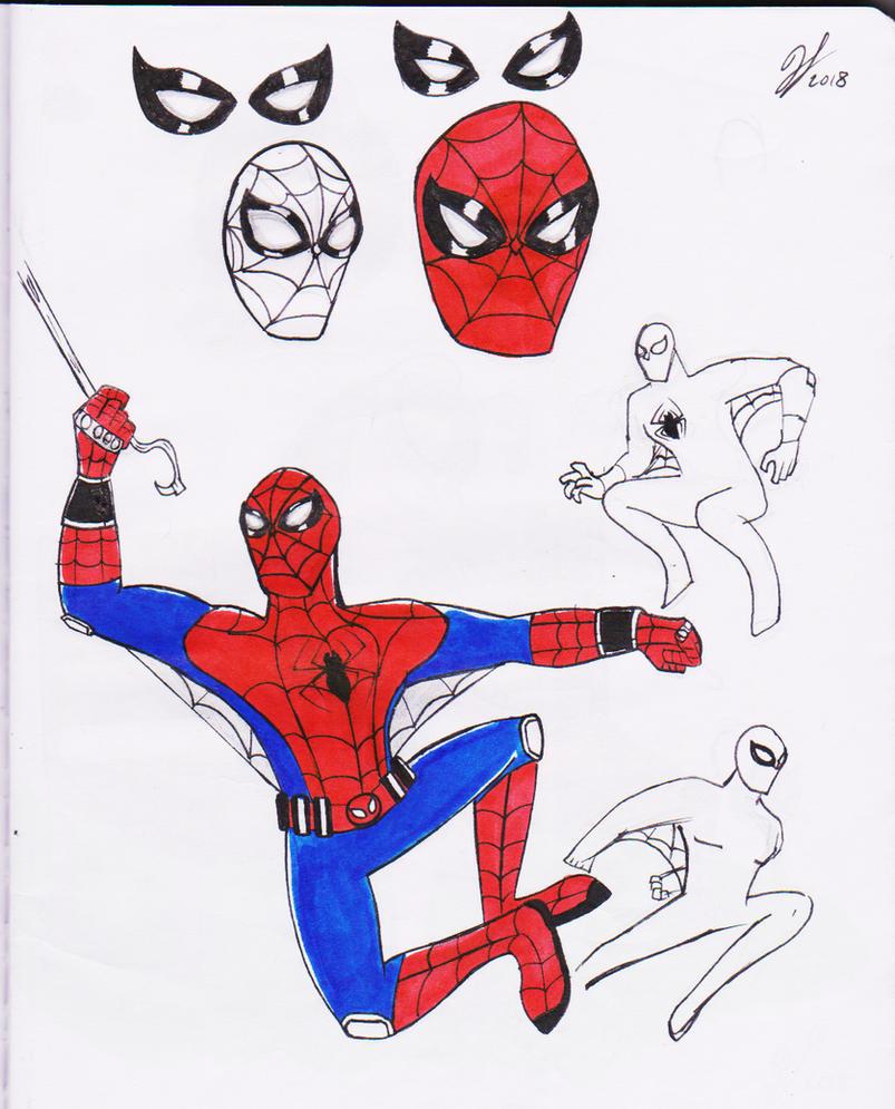 Spiderman Doodles by PandaKillerGao