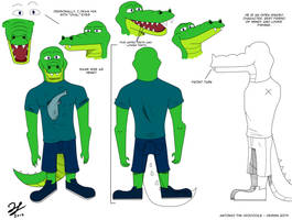Antonio The Crocodile - Design