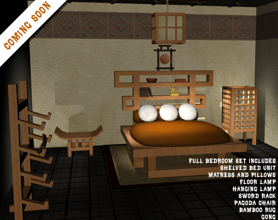 Asian Inspired Bedroom set Coming soon by civilizedsavage on DeviantArt