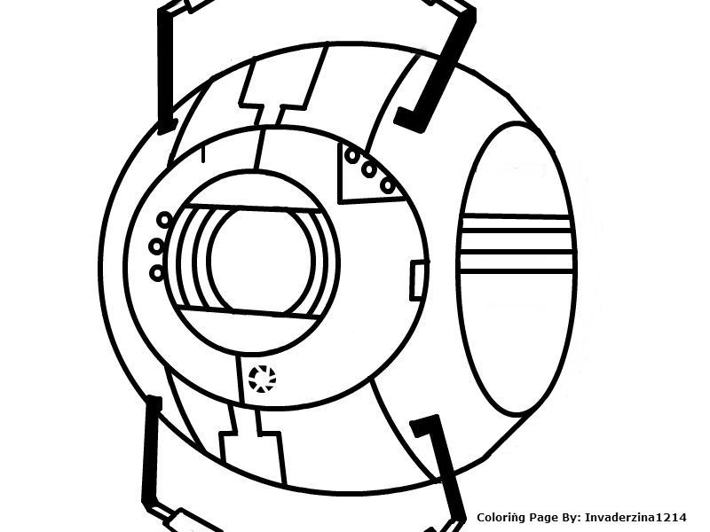 Wheatley Coloring Page by Invaderzina1214 on DeviantArt