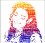 Michael Jackson typography portrait