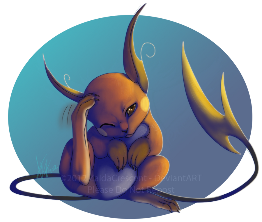 Pokemon - Raichu by ZaidaCrescent on DeviantArt