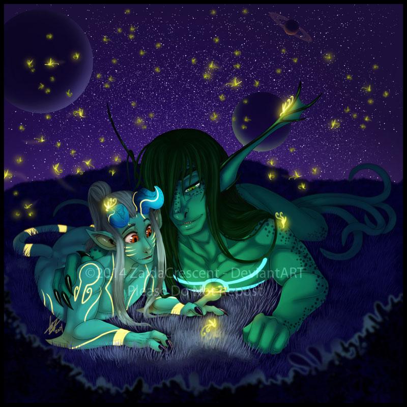 Fireflies by ZaidaCrescent