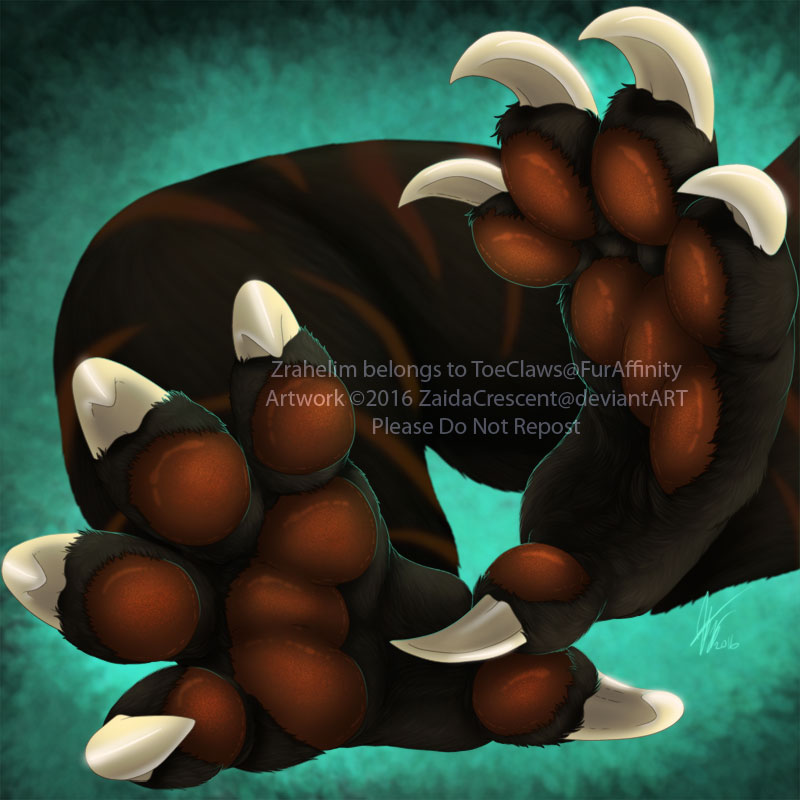 2016 Paw-Bust Promo - ToeClaws 2 by ZaidaCrescent