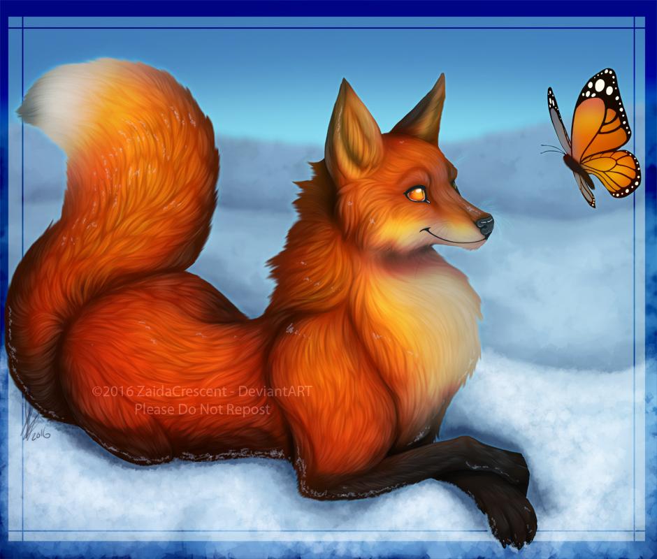 Fox - Christmas 2016 by ZaidaCrescent