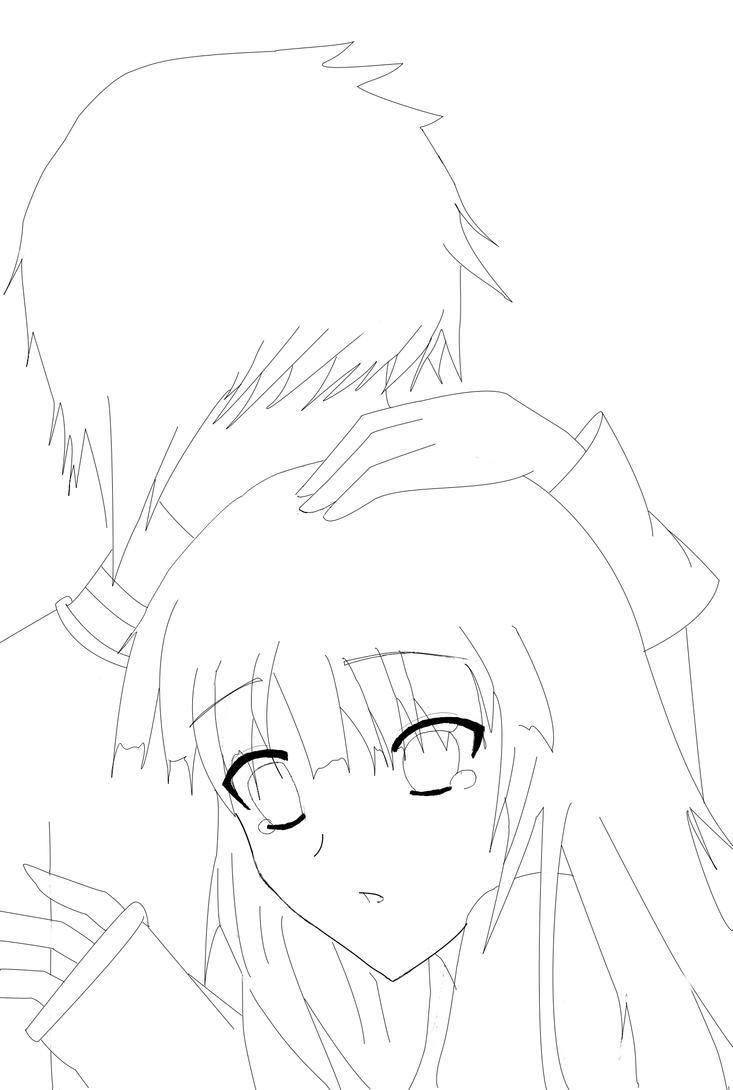 Line Drawing Couple : Anime couple line art car interior design