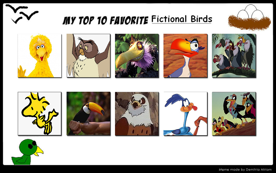 My Top 10 Favorite Birds by Ezmanify on DeviantArt