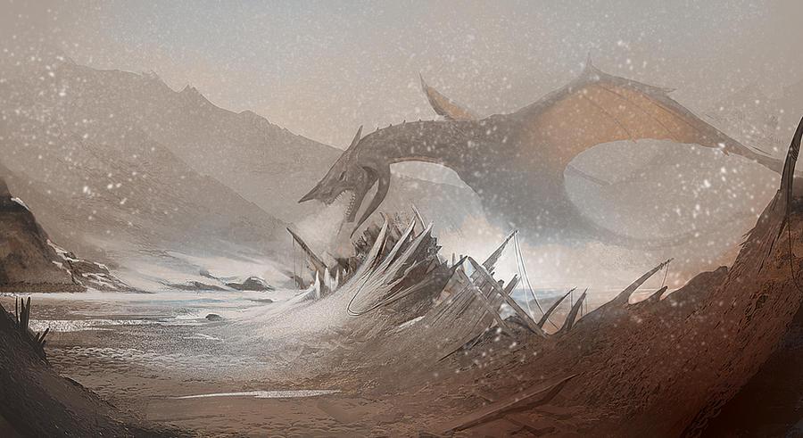 Ice dragon by Asahisuperdry