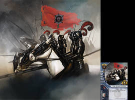 Warhammer invasion black guard by Asahisuperdry