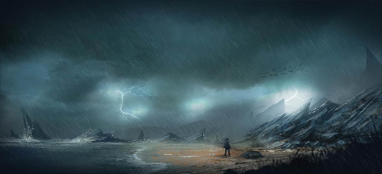 Path of exile - beach arrival - by Asahisuperdry