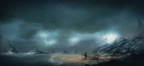 Path of exile - beach arrival -