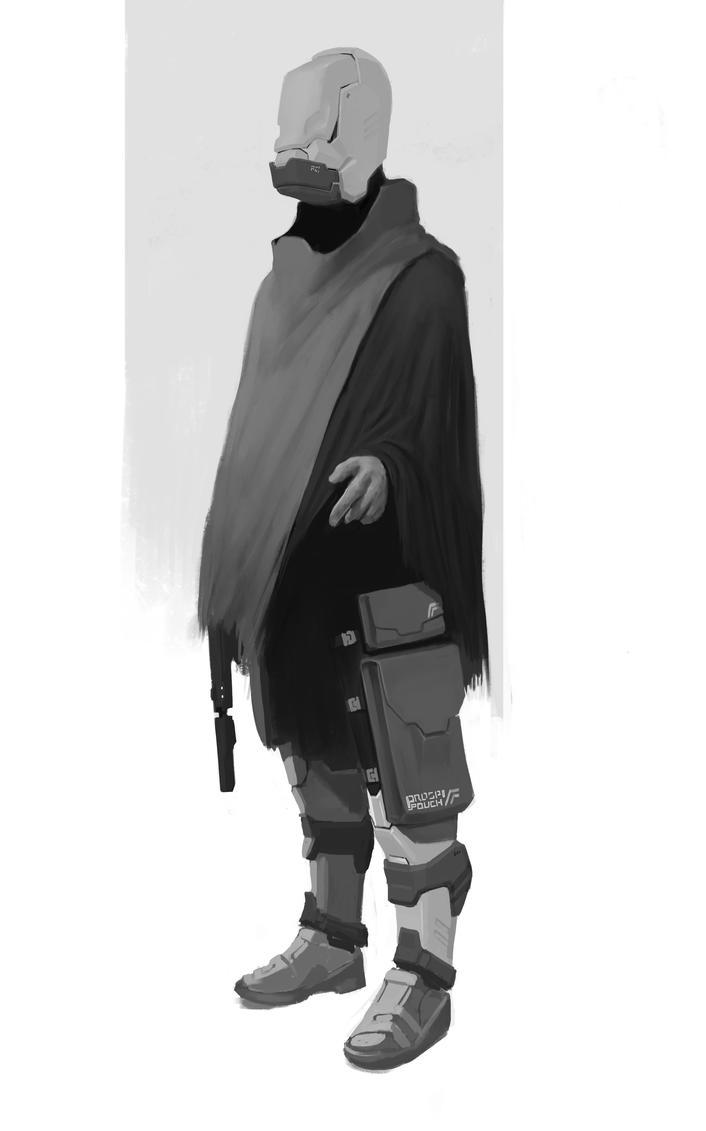 bounty hunter scifi by Asahisuperdry