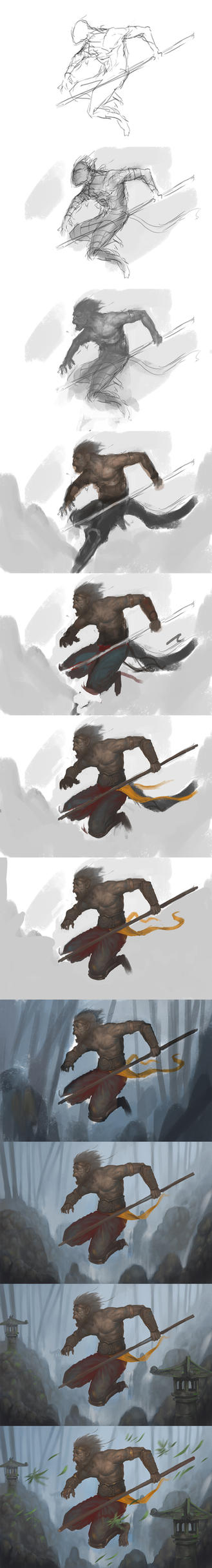Monkey King Step By Step by Asahisuperdry