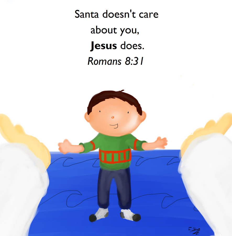 Jesus cares about you. by SandovART