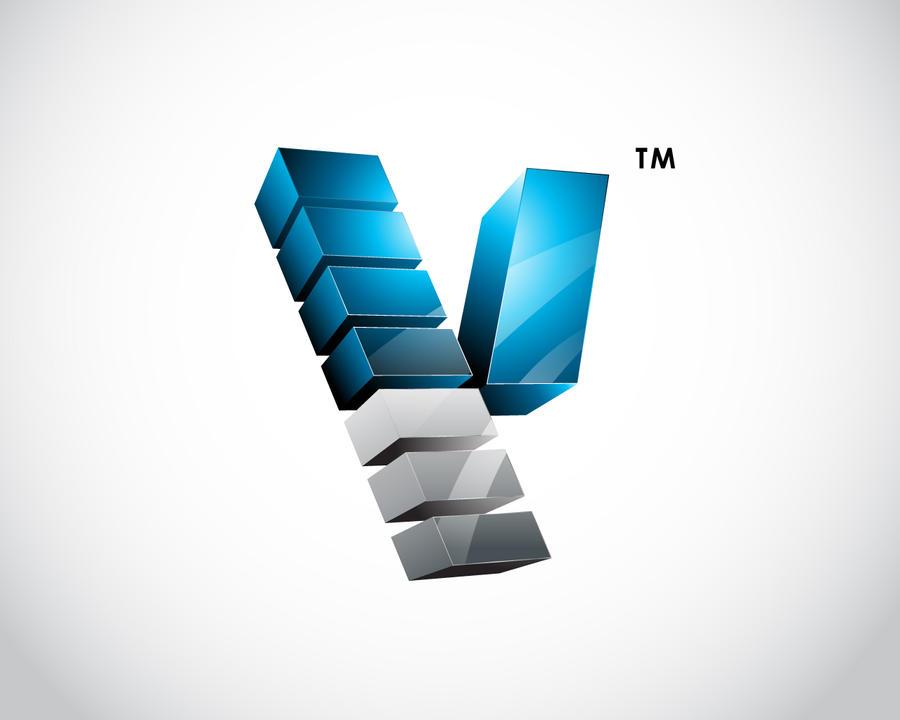 Logo 02 - V 3d Logo by rixlauren