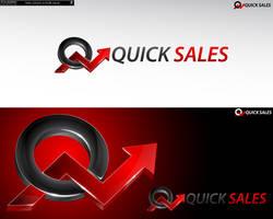 Logo 09 - Quick sales 3d Logo by rixlauren