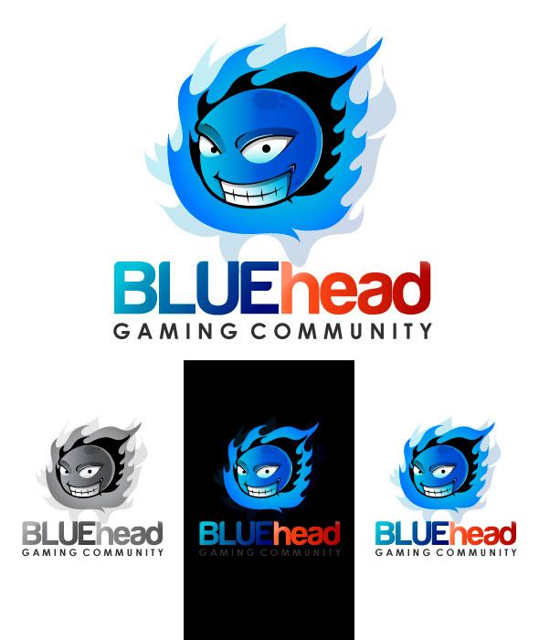 BLUEhead Gaming Logo by rixlauren