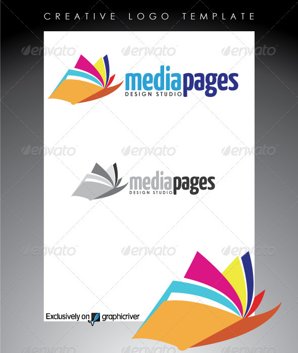 Media Pages Design Studio Logo By Rixlauren