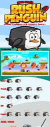 Game Asset: Rush Penguin by rixlauren