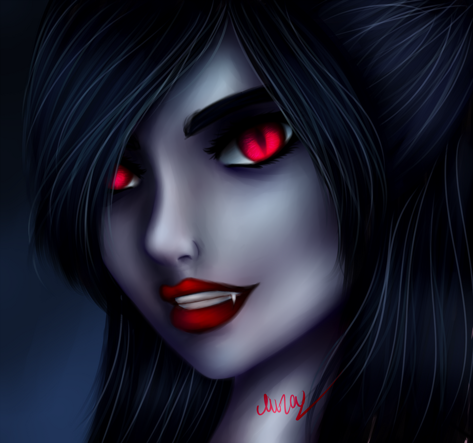 Vampire girl draw by muzadarkness