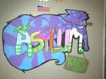 -Asylum door sign-