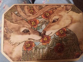 -Brothers of the forest- Color woodburn by Ittermat