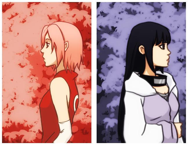 Kunoichis - Sakura and Hinata by gabzillaz