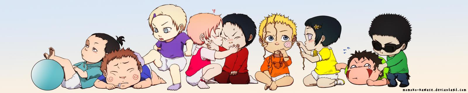 Naruto babies collaboration by gabzillaz