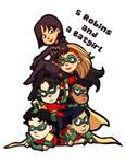5 Robins and a Batgirl