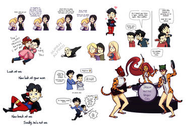 Bat doodles by gabzillaz