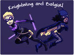 Knightwing and Batgirl