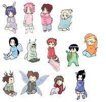 Naruto babies by gabzillaz