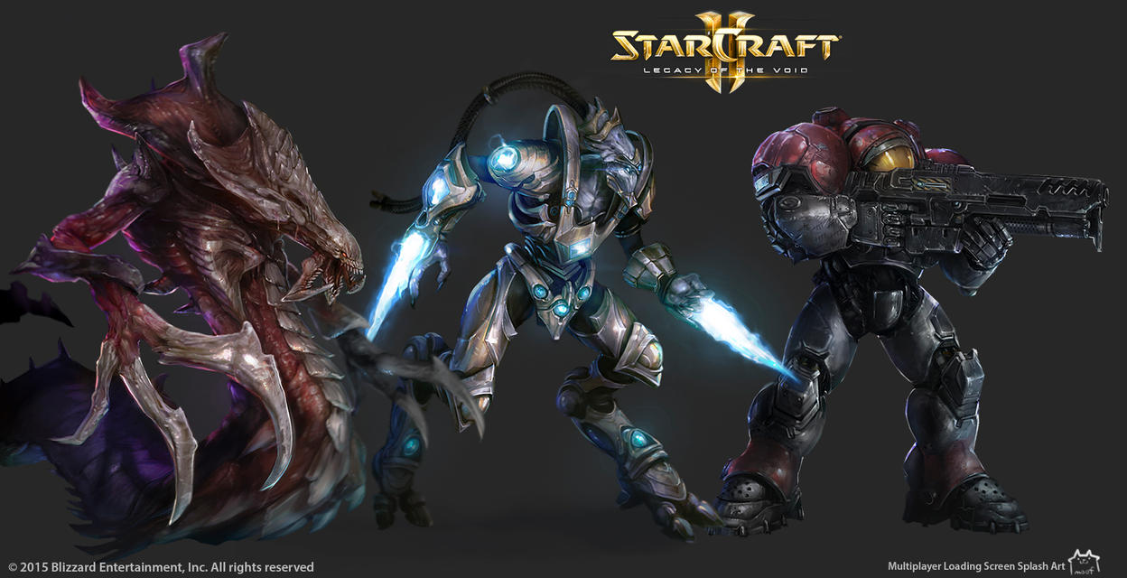 StarCraft 2 Loading Screen Splash Art by moofart-moof